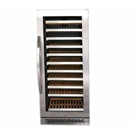 מקרר יין בנוי 24 אינץ דלת זכוכית משולבת נירוסטה מבית Normande דגם JC280S Single ZONE
