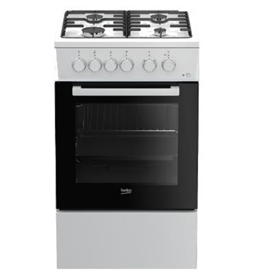 תנור משולב צר 55 ליטר 6 תוכניות אפיה צבע לבן תוצרת BEKO דגם FSE52010DW