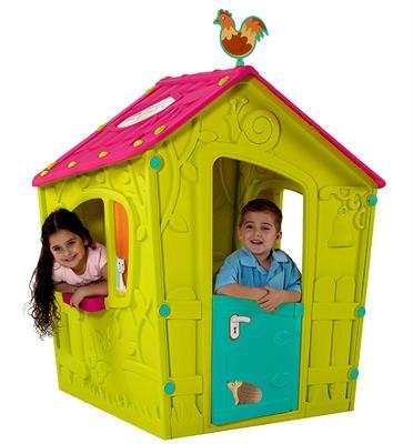 """בית משחק יפיפה מהאגדות בעיצוב א-סמטרי ייחודי מבית כתר פלסטיק בע""""מ דגם MAGIC PLAYHOUSE"""