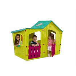 """בית ילדים מג'יק וילה בעיצוב ייחודי של טירה מהאגדות מבית כתר פלסטיק בע""""מ דגם MAGIC VILLA"""