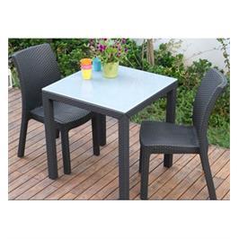 """זוג כסאות אוכל בעיצוב מרהיב מבית כתר פלסטיק בע""""מ דגם מילאנו ראטן"""