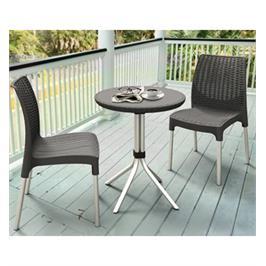 """זוג כסאות במראה אלגנטי מפלסטיק איכותי מבית כתר פלסטיק בע""""מ דגם צ'לסי"""