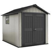 """מחסן גינה מרחב אחסון מרווח ומבנה קשיח עמיד מפני מזג האוויר מבית כתר פלסטיק בע""""מ דגם אוקלנד 759"""