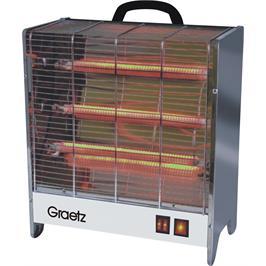 תנורי חימום 3 ספיראלות 3 גופי חימום קרמיים מבית GRAETZ דגם GR1003