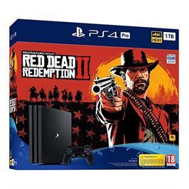 קונסולה פלייסטיישן PS4 PRO 1TB+RED DEAD REDEMPTION בקר אחד!דגםCUH-7216B-RDR2אוזניות DRAGON מתנה