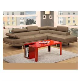 מערכת ישיבה פינתית הכולל ספה תלת מושבית מראה מודרני מבית גארוקס דגם אמסטרדם ריפוד בד/ דמוי עור