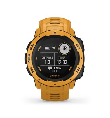 שעון יד חכם GPS בעיצוב עמיד, נבנה כדי לתפקד בתנאים המאתגרים ביותר מבית GARMIN דגם Instinct