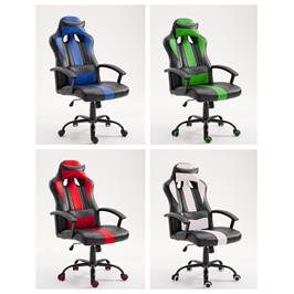 כיסא גיימר ארגונומי בעיצוב צעיר המעניק נוחות מושלמת לבית או למשרד מבית HOMAX  דגם ג'ורדן