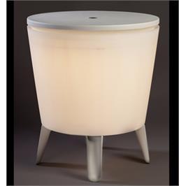 """קול בר מואר - שולחן קוקטיילים טרנדי משולב בצידנית גדולה מבית כתר פלסטיק בע""""מ"""