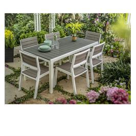 סט הרמוני שולחן ו-6 כסאות ריהוט לגןמבית כתר פלסטיק דגם HARMONY SET