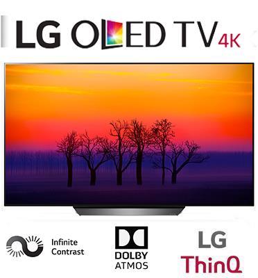 """טלוויזיה """"55 OLED עיצוב אומנותי דק כנייר ברזולוציית 4K Ultra HD תוצרת LG דגם OLED 55B8Y"""