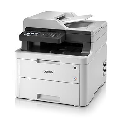 מדפסת אלחוטית משולבת סורק הדפסה שקט תוצרת Brother דגם MFCL3710CW