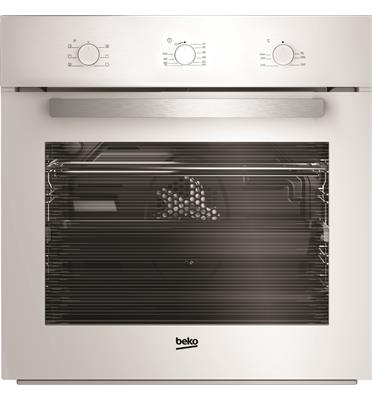תנור אפיה בנוי 65 ליטר טורבו 8 תוכניות גימור לבן תוצרת BEKO דגם BIM22100W