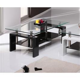 שולחן סלון מזכוכית משילוב חומרים מודרני מבית GAROX דגם MILANO