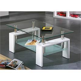 שולחן סלון זכוכית מחוסמת עם משטח גשה עליון מבית GAROX דגם ANTONIO