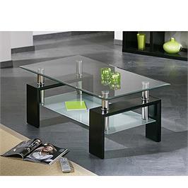שולחן סלון זכוכית בעיצוב מרהיב היישר מהתערוכות באיטליה בגימור שחור מבריק מבית GAROX דגם RIO
