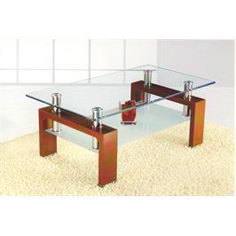 שולחן סלון זכוכית חלבית המשלים מראה יוקרתי מבית מבית GAROX דגם HUGO