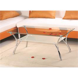 שולחן סלון זכוכית מעוצב בקווים נקיים מבית GAROX דגם CAMPANA
