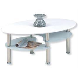 שולחן זכוכית מעוצב ומרהיב ביופיו בעל שלושה משטחים בגבהים שונים מבית GAROX דגם VEGA