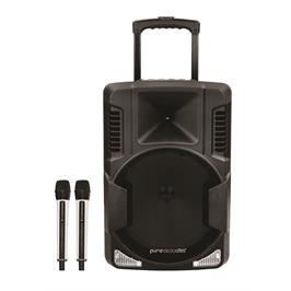 """בידורית קריוקי ניידת עם וופר 12"""" ואפשרות הקלטה תוצרת Pure Acoustics דגם STB-122"""