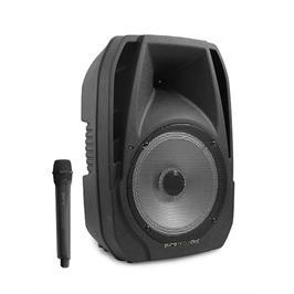 """בידורית קריוקי בלוטוס 12"""" ומקרופון אלחוטי עם אפשרות הקלטה תוצרת Pure Acoustics דגם STB-121"""