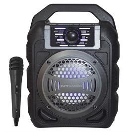 רמקול בלוטוס נייד עם תאורת דיסקו ומיקרופון חוטי תוצרת Pure Acoustics דגם STB-51