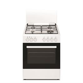 """תנור משולב 60 ס""""מ 4 להבות 6 תוכניות בגימור לבן איכותי ומפואר תוצרת NORMANDE דגם NR-6060ELW"""