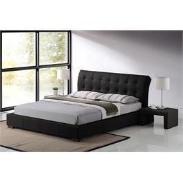 מיטה זוגית מרופדת דמוי עור איכותי בעיצוב איטלקי מדהים מבית GAROX דגם LUCIANO