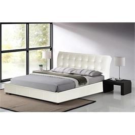 מיטה וחצי מרופדת דמוי עור איכותי בעיצוב איטלקי מדהים בגוון שמנת מבית GAROX דגם LUCIANO