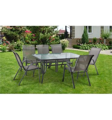 סט פינת אוכל מפואר שולחן עם 6 כסאות לגינה תוצרת AUSTRALIA CAMP דגם Torino