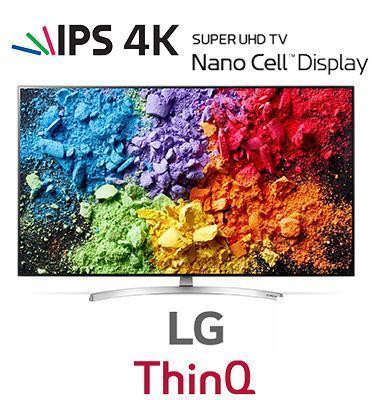טלוויזיית 65 אינץ' LED חכמה Smart TV ברזולוציית 4K Ultra HD מבית LG. דגם 65SK8000P מתצוגה