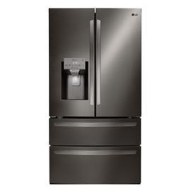 מקרר 4 דלתות מקפיא תחתון 827 ליטר NO FROST גימור נירוסטה שחור תוצרת LG דגם GRL29 EMPIER