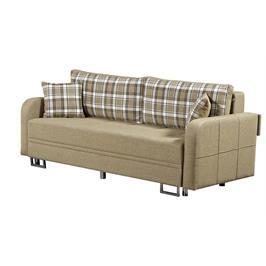 ספת אירוח מפוארת נפתחת למיטה זוגית גדולה + ארגז מצעים מבית LEONARDO דגם טורינו + כריות נוי מתנה