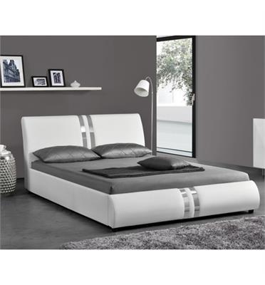 מיטה רחבה מרופדת דמוי עור רך עם בסיס עץ מלא בעיצוב מודרני מבית HOME DECOR דגם גלי 120