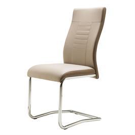 כיסא לפינת אוכל מעוצב בסיס עשוי מתכת, מרופד דמוי עור מבית BRADEX דגם LUCKY