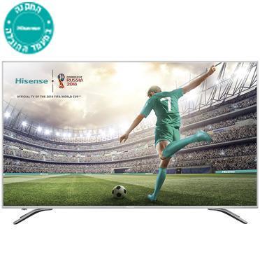 """טלויזיה """"55 SMART LED TV 4K Ultra HD תוצרת Hisense דגם H55A6100IL מתצוגה"""