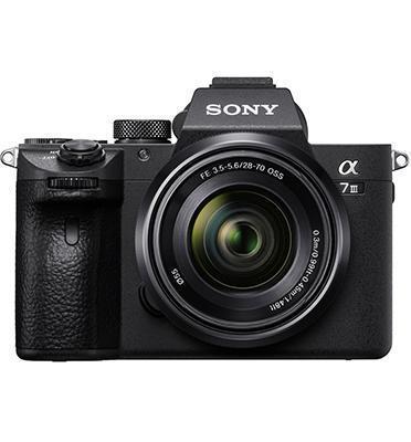 """מצלמת סטילס Full Frame 35 מ""""מ מסדרת אלפה Mirror less MP 24.2מבית SONY דגם ILC-E7M3KB עדשה 28-70"""