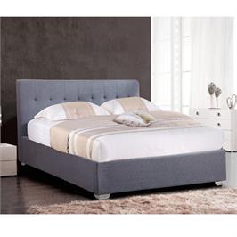 מיטה רחבה לנוער בריפוד בד עם ארגז מצעים מעץ בעיצוב מודרני מבית HOME DECOR דגם נועם 120