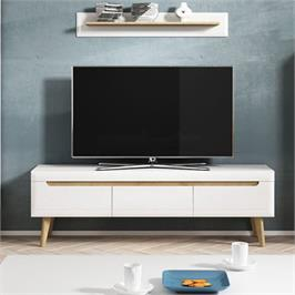 סט מזנון ושולחן מעוצבים בגימור מודרני מרשים לחדר הסלון תוצרת אירופה מבית HOME DECOR דגם ליאת