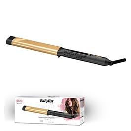 מסלסל שיער אובלי מקצועי קרמי מוזהב תוצרת BABYLISS דגם C440E קני קבלי מסלסל מיני מתנה !