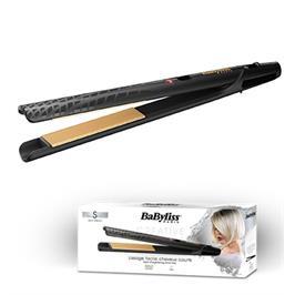 מחליק שיער קרמי מוזהב מעולה לשיער קצר או דק תוצרת BABYLISS דגם ST410E קני קבלי מסלסל מיני מתנה