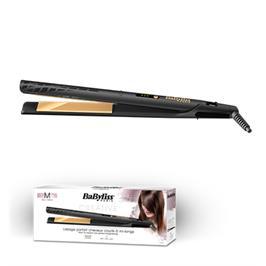 מחליק שיער קרמי מוזהב לשיער בינוני ודק תוצרת BABYLISS דגם ST420E קני קבלי  מסלסל מיני מתנה !