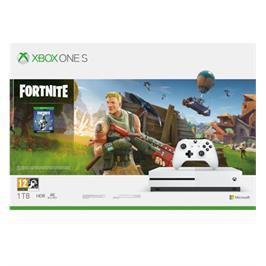 קונסולת משחקים Xbox One S 1TB פלוס בקר אלחוטי וחבילת Fortnite Battle Royale