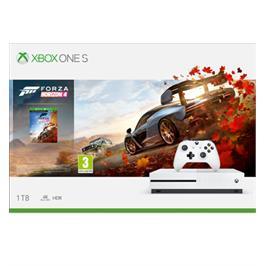 קונסולת Xbox One S 1TB, הורדה מלאה של המשחק Forza Horizon 4 + שני בקרים אלחוטיים!!
