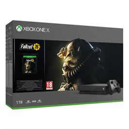 קונסולת Xbox One X 1TB, בקר אלחוטי, הורדות מלאות של המשחקים FALLOUT 76