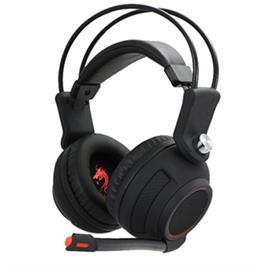 אוזניות גיימינג הכוללות תאורת LED אדומה מופעלת USB מבית DRAGON דגם VBASS