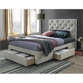 מיטה רחבה לנוער מרופדת 120x190 עם 3 מגירות אחסון מבית HOME DECOR דגם טופז 120
