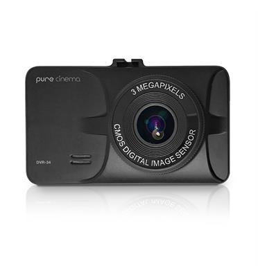 מצלמת דרך לרכב באיכות HD-P1080 ביטחון לנהג הקלטה אוטומטית צילום רחב מבית PURE CINEMA דגם DVR-34