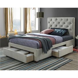 מיטה זוגית מרופדת 140x190 עם 3 מגירות אחסון מבית HOME DECOR דגם טופז 140