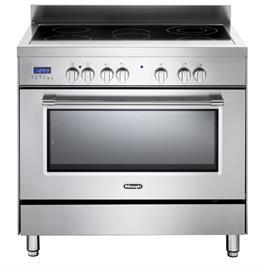 """תנור משולב כיריים מפואר 90 ס""""מ קרמיות תוצרת Delonghi דגם NDS990X"""